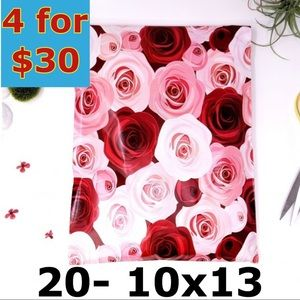 20- 10x13 ROSES Floral Design Poly Mailers